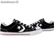 ✅ zapatilla sneaker converse all star player ox black/white 144146C/007