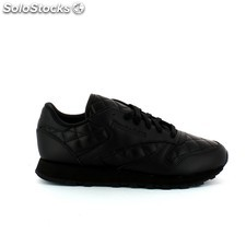✅ zapatilla sneaker reebok classic leather quilted black