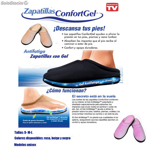 d34fb33f8671b Zapatillas confort gel color rosa