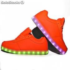 Zapatillas led naranja fosforitas