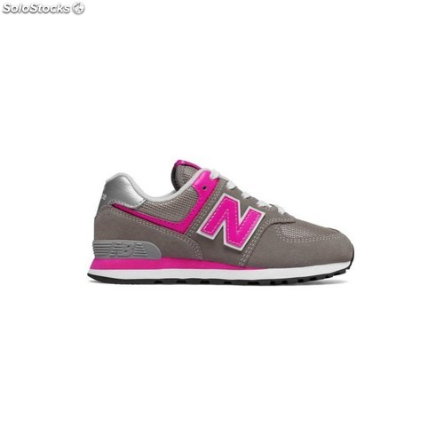 zapatillas new balance kl410 gris rosa