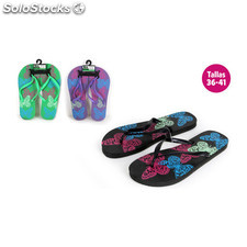 Zapatillas playa diseño mariposas morado - aquapro - BY02049960696_DESKIT