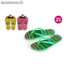 Zapatillas playa diseño rayas verde - aquapro - BY02049960694_DESKIT