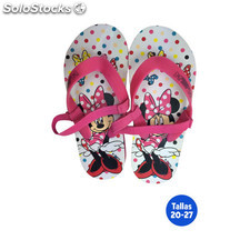 Zapatillas playa infantiles minnie con goma - idealcasa kids - minnie -
