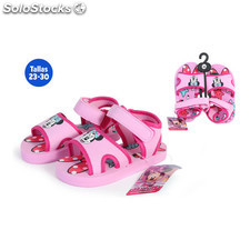 Zapatillas verano con velcro minnie rosa - idealcasa kids - minnie -