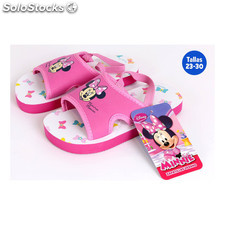 Zapatillas verano infantiles con goma minnie fucsia - idealcasa kids - minnie -
