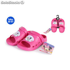 Zapatillas verano infantiles minnie rosa - idealcasa kids - minnie -