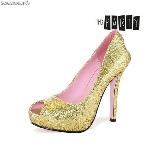 2e28962af66 Zapatos de Tacón Th3 Party Oro Brillo