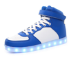 zapatos talon largo coloridos calzado sintetico con luces LED stock en china