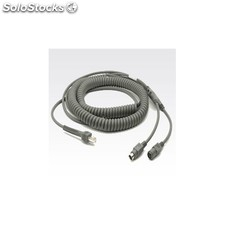 Zebra - Keyboard Wedge Cable CBA-K08-C20PAR 6m Gris cable para video, teclado y