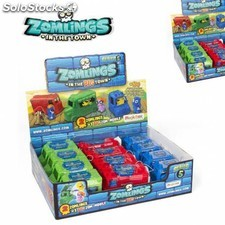 Zomlings serie 5 1 big zomling + vehiculo caja 12 unidades